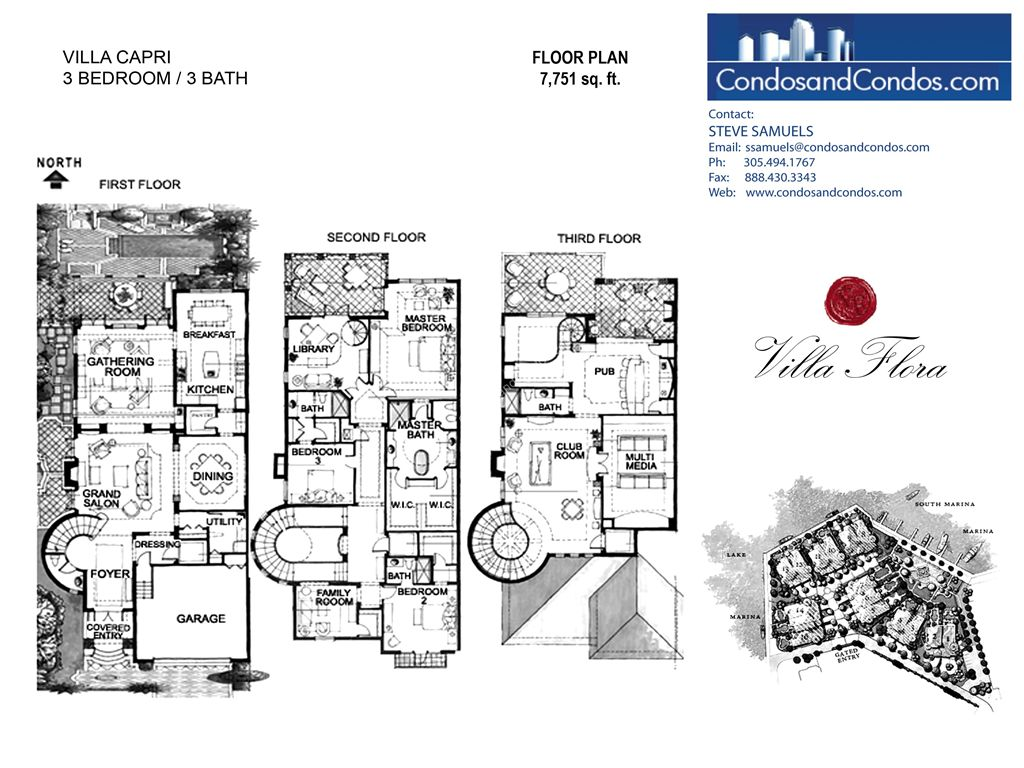 Villa Flora - Unit #Capri with 7751 SF