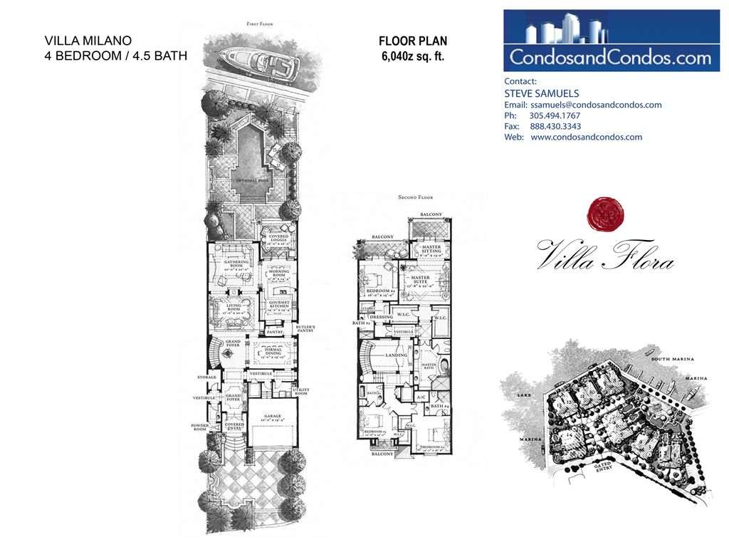 Villa Flora - Unit #Milano with 6040 SF
