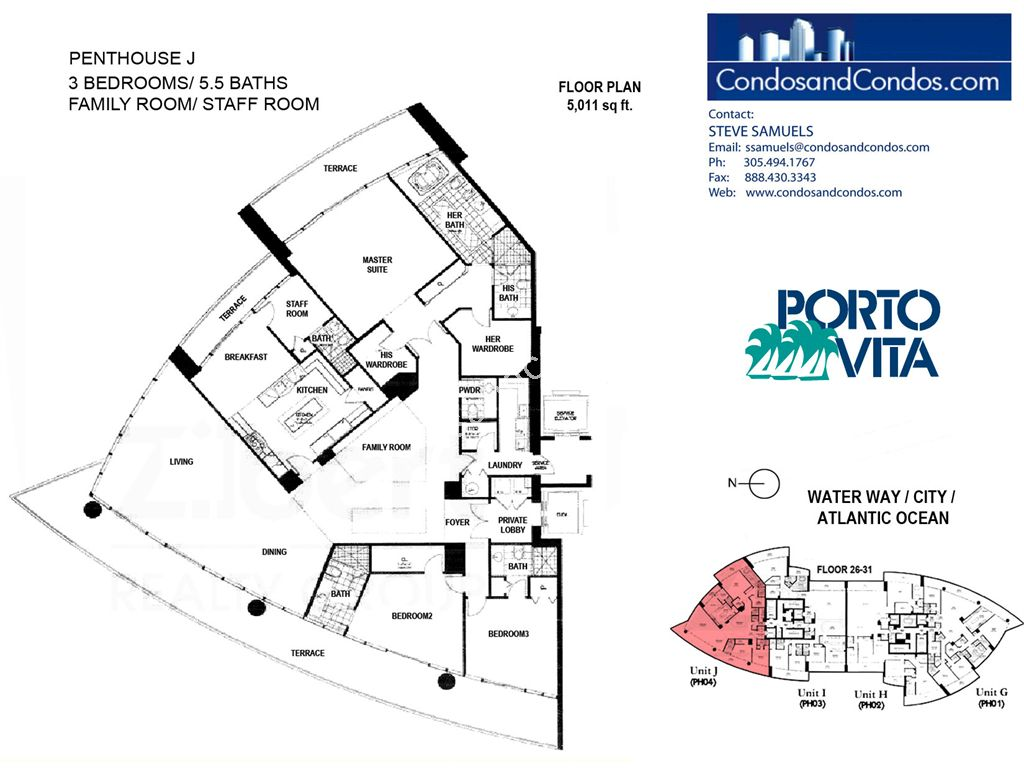 Porto Vita South - Unit #J with 5011 SF