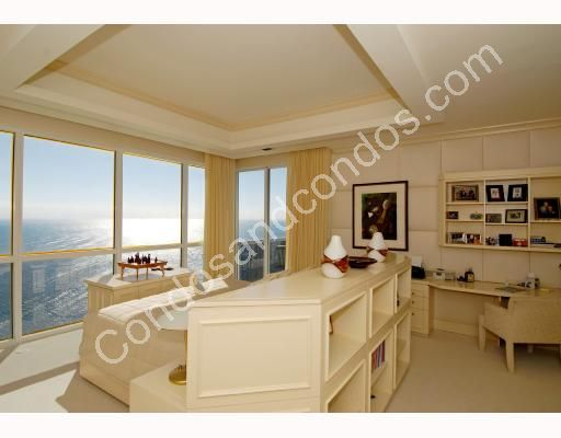 Custom master bedroom with expansive ocean views