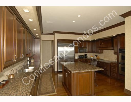 Modern European Kitchen with granite countertops