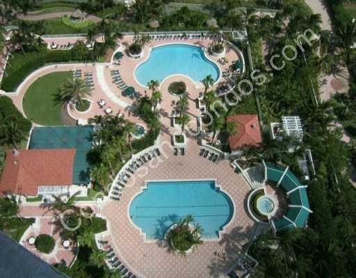 Ariel view of the pools