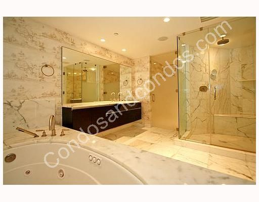 Master bathroom with imported Italian marble