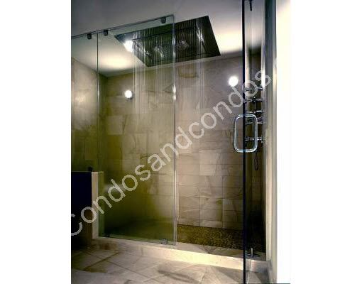 Large waterfall-style shower