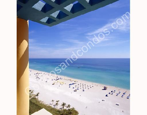 Terrace view of Miami's pristine beaches