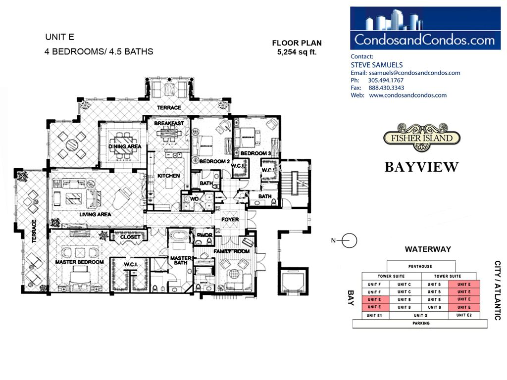 Bayview - Unit #E with 5254 SF