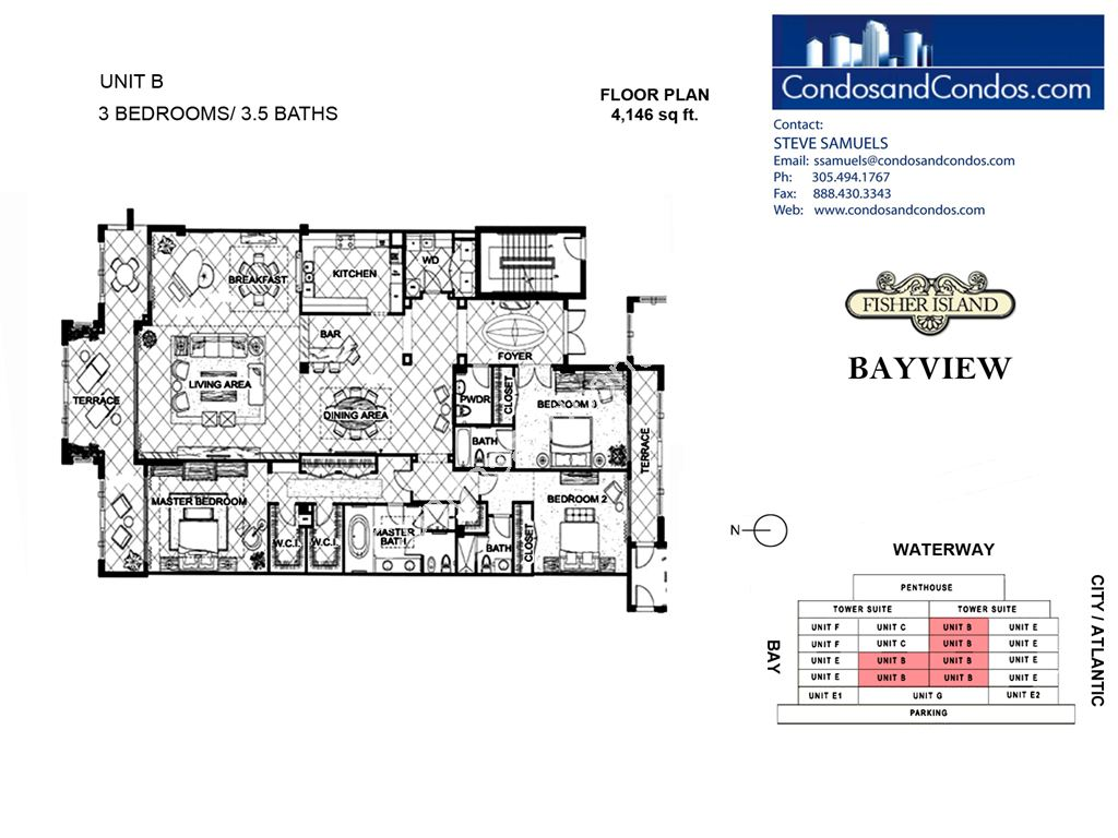Bayview - Unit #B with 4146 SF
