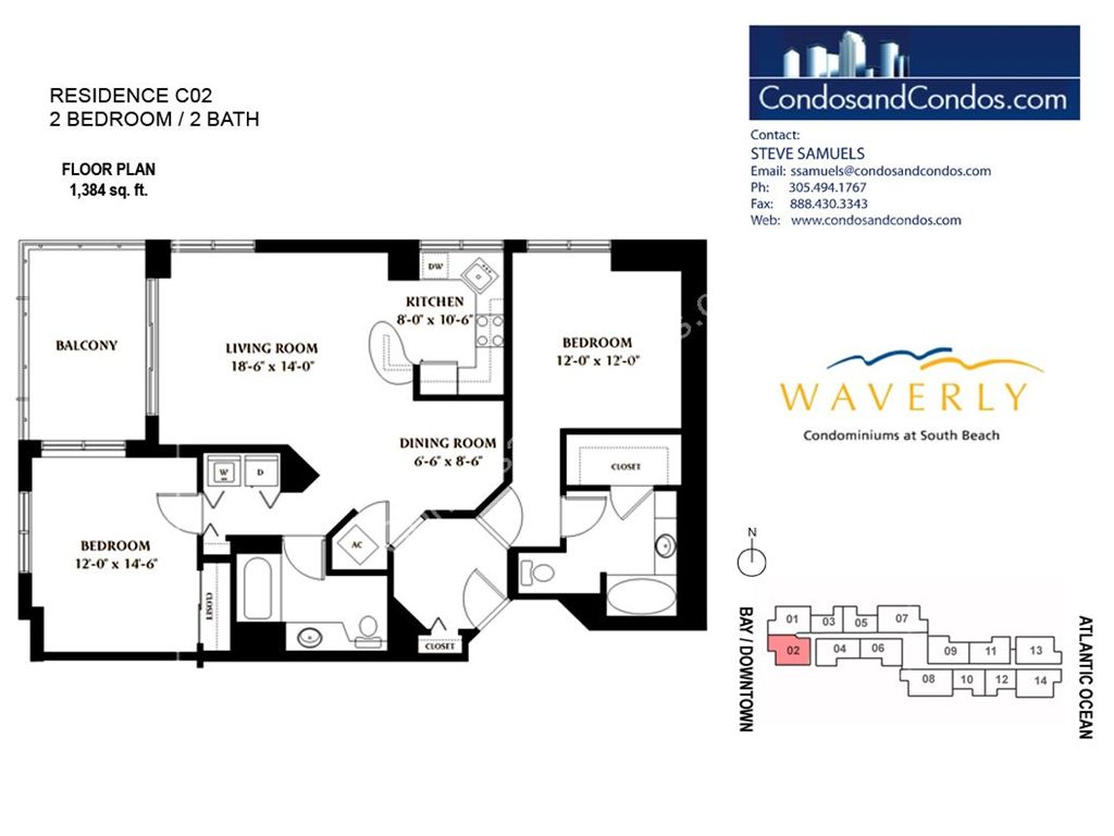 Waverly - Unit #02 with 1384 SF