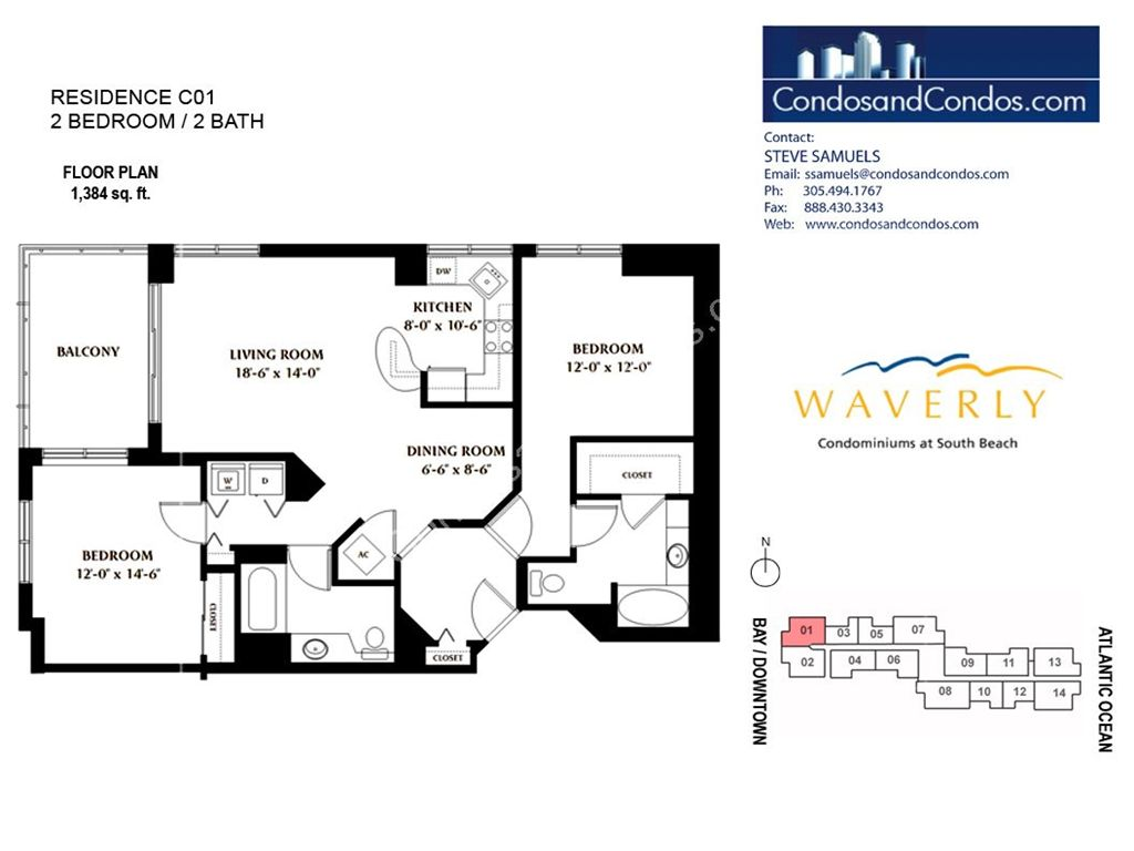 Waverly - Unit #01 with 1384 SF