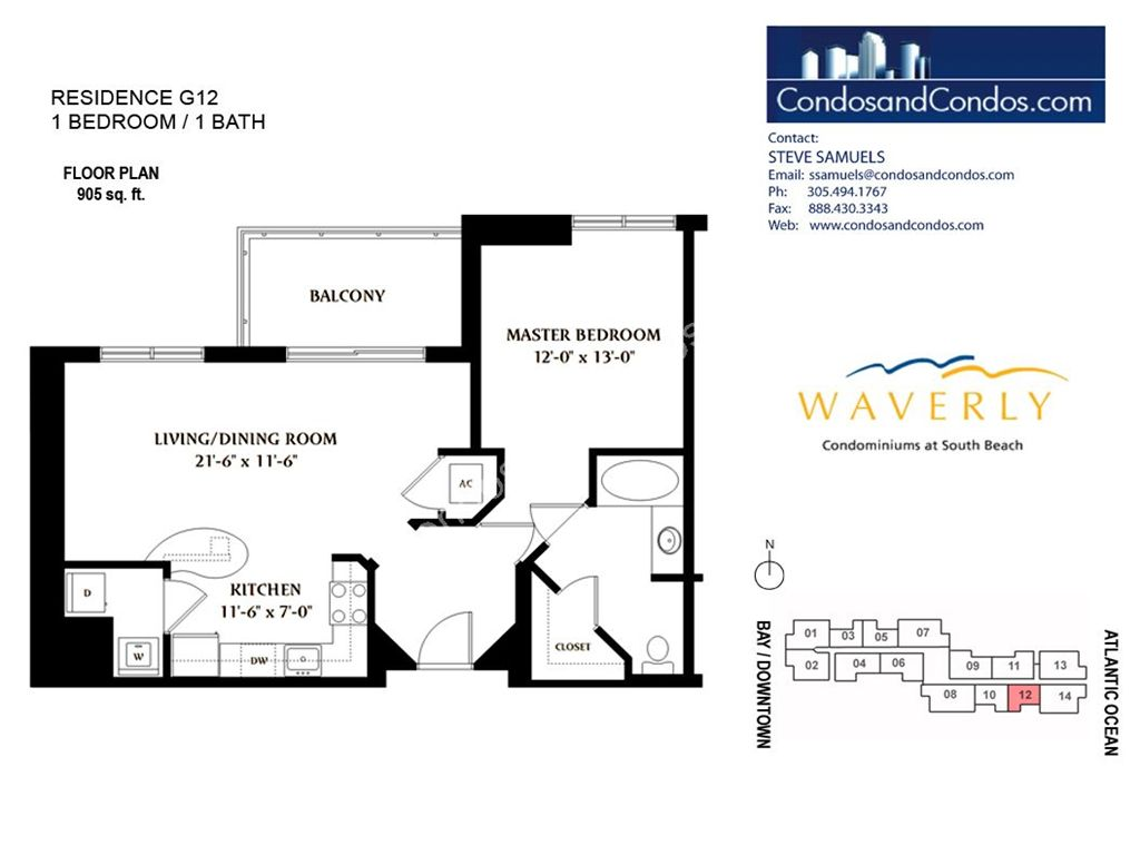 Waverly - Unit #12 with 905 SF