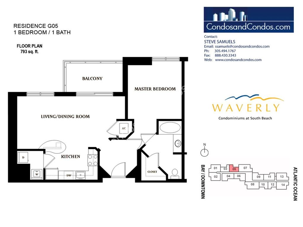 Waverly - Unit #05 with 793 SF