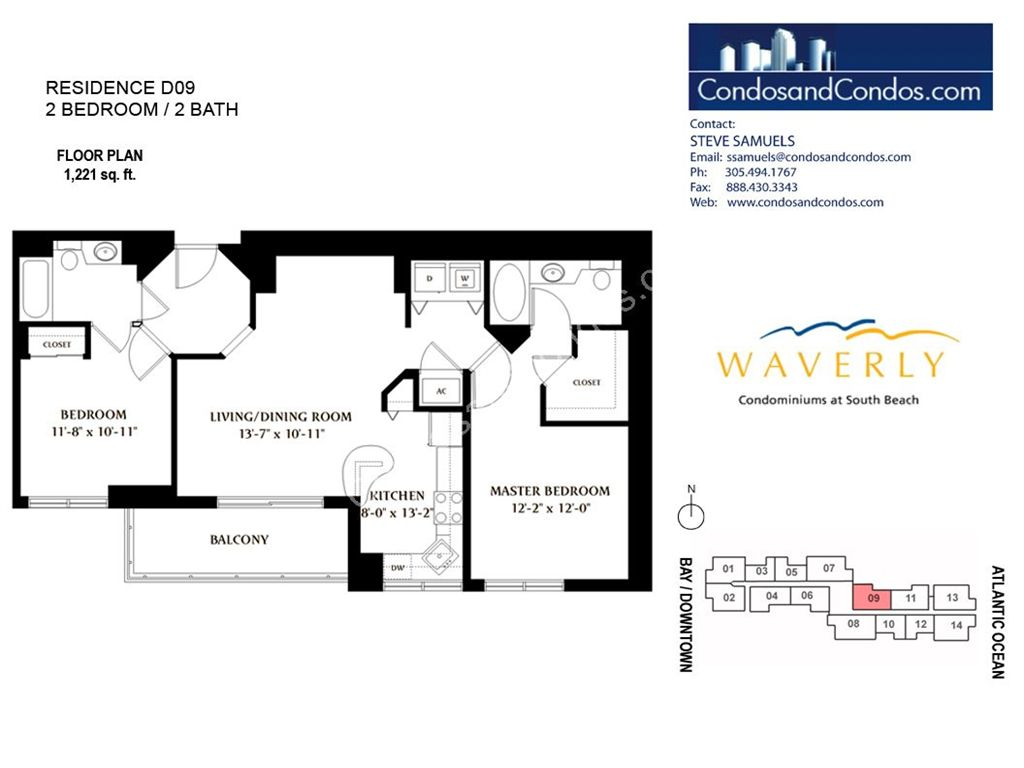 Waverly - Unit #09 with 1221 SF