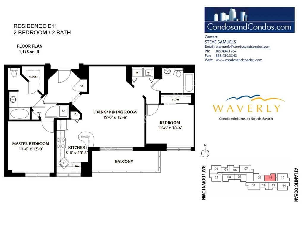 Waverly - Unit #11 with 1178 SF
