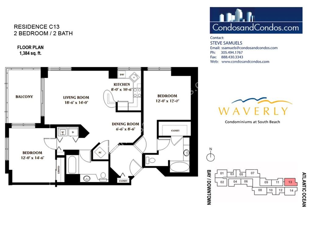 Waverly - Unit #13 with 1384 SF