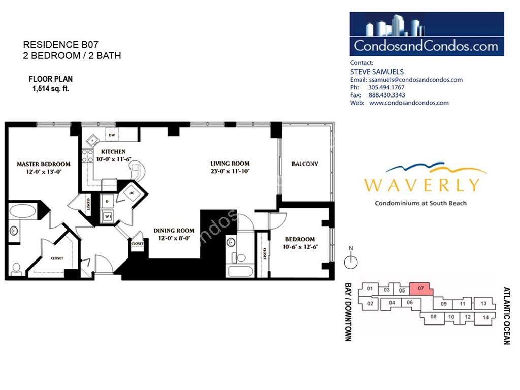 Waverly - Unit #07 with 1514 SF