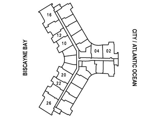 Photo of key floor plan