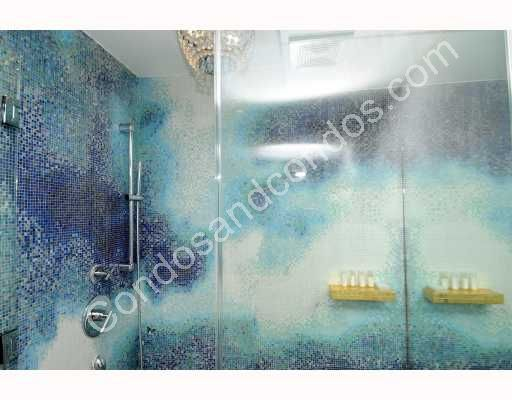 Shower with custom tile and lighting