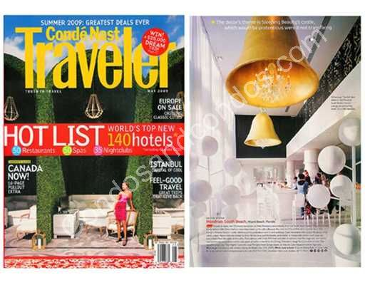 Mondrian South Beach featured in Traveler Magazine