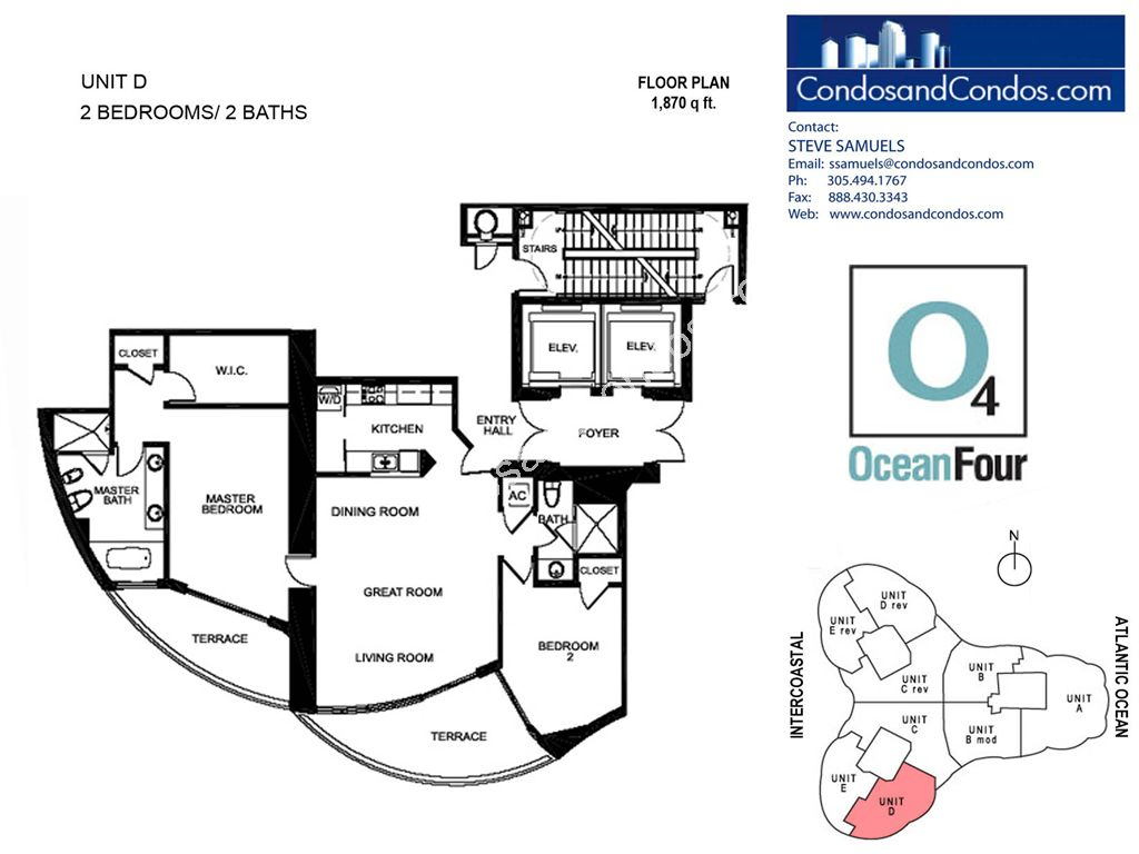 Ocean IV - Unit #D with 1870 SF