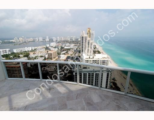 Terrace view of the Atlantic Ocean and Sunny Isles Beach