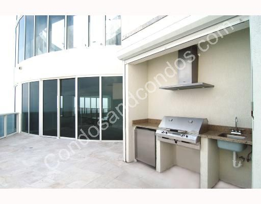 Private balcony with outdoor kitchen