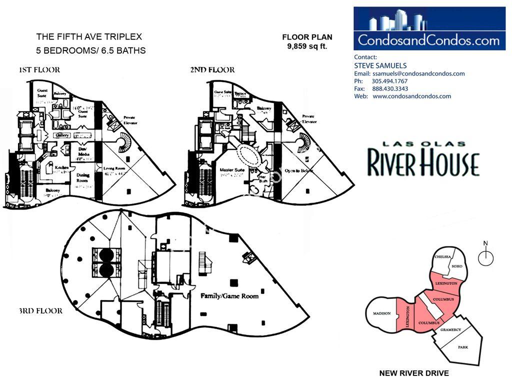 Las olas river house floor plans for River house plans