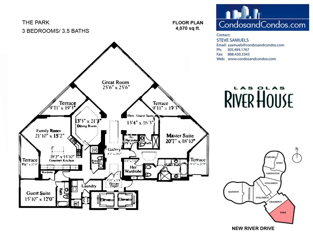 Las Olas River House Condo Floor Plans