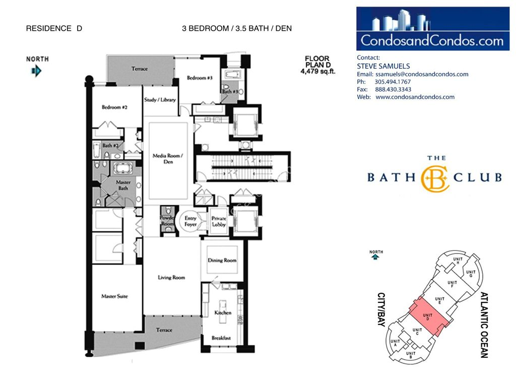Bath Club - Unit #D-04 with 4479 SF