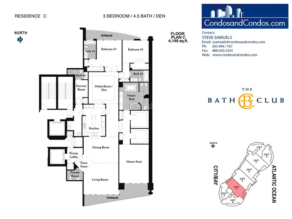 Bath Club - Unit #C-03 with 4148 SF