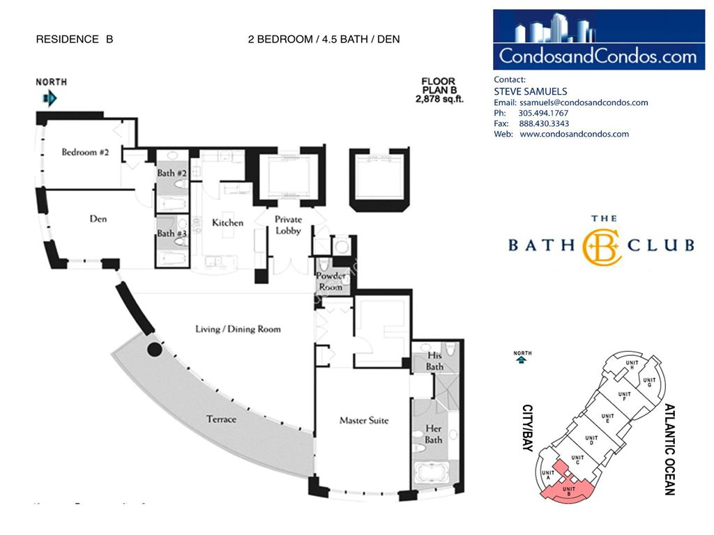 Bath Club - Unit #B-02 with 2878 SF