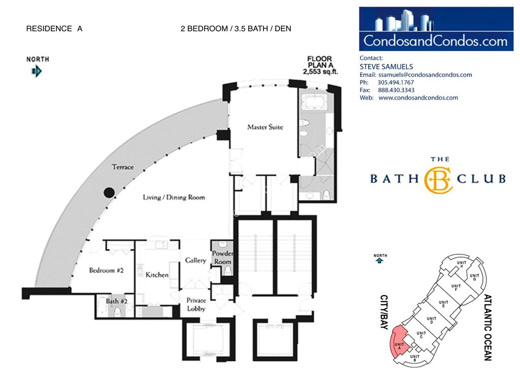 Bath Club - Unit #A-01 with 2553 SF