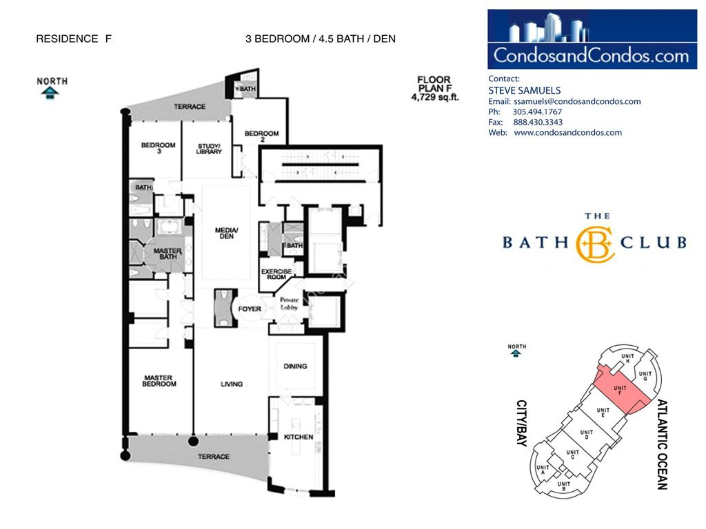 Bath Club - Unit #F-06 with 4729 SF