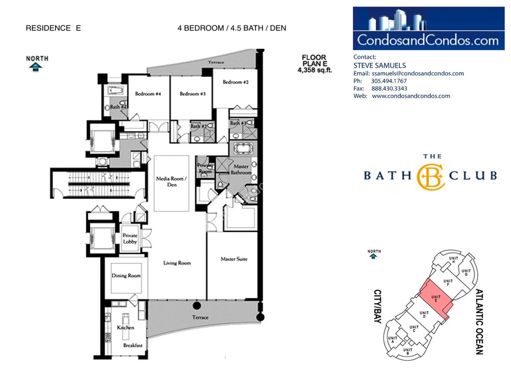 Bath Club - Unit #E-05 with 4358 SF