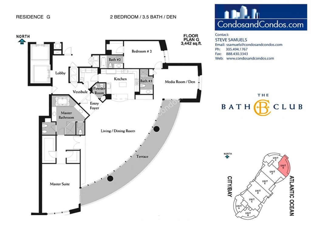 Bath Club - Unit #G-07 with 3442 SF