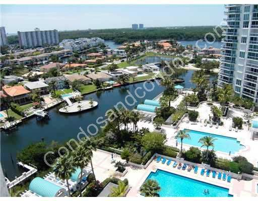 Residential view of the Intracoastal and Sunny Isles Beach