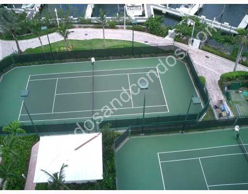 Two water front tennis courts