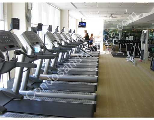 Treadmills with private television monitors