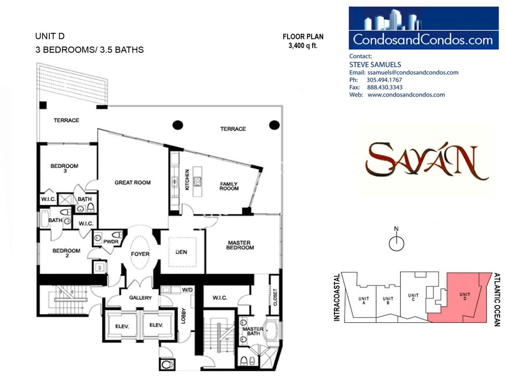 Sayan - Unit #D with 3400 SF