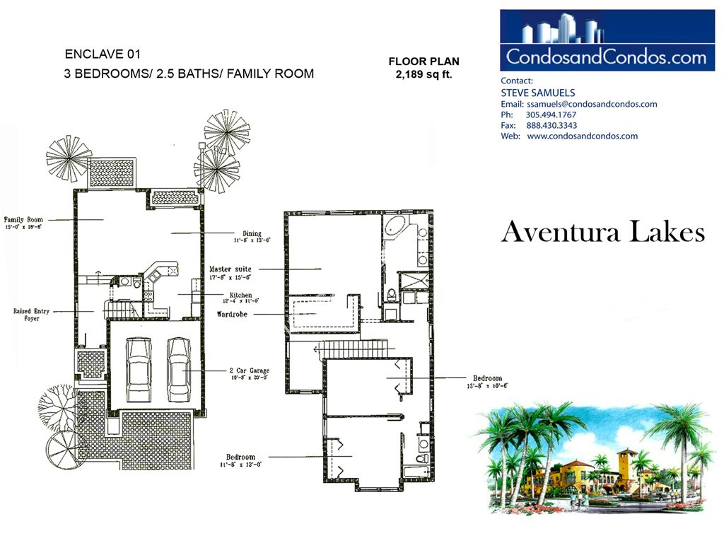 Aventura Lakes - Unit #Enclave 01 with 2189 SF