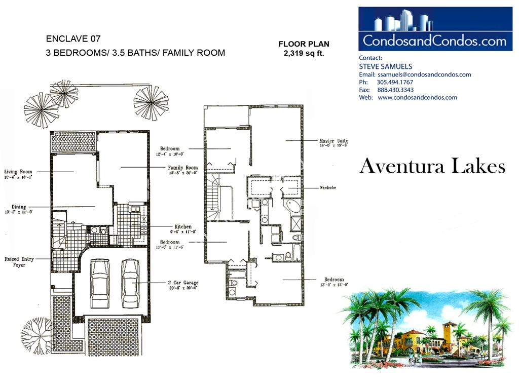 Aventura Lakes - Unit #Enclave 07 with 2319 SF