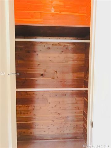 Cedar-lined closet in front bedroom
