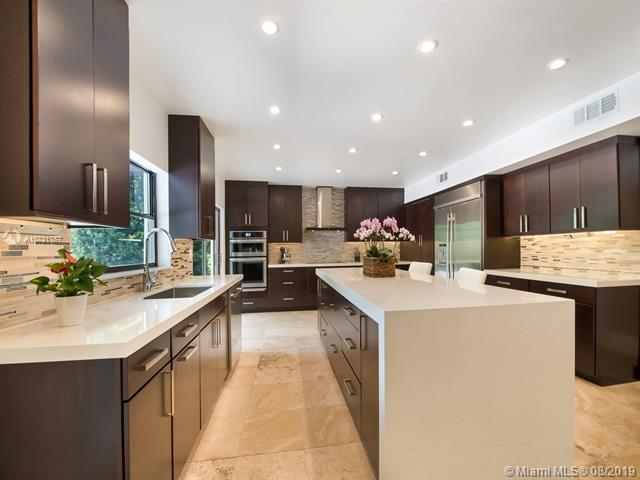 Fully Renovated and Spacious Kitchen Featuring Expansive Center Island