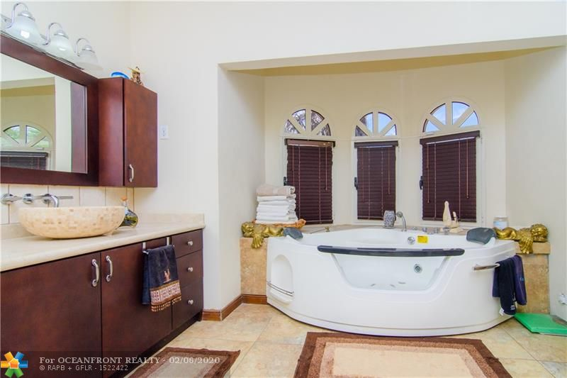 Master bathroom with private jacuzzi